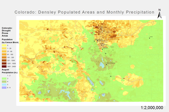 Part of a 12 month series of analysis of rainfall and drought in Colorado. (Flash animation to be posted soon)