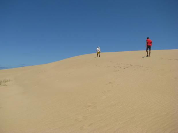 Sand dunes in Cabo Polonio