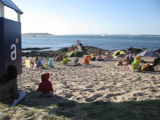 A popular beach in Punta Del Este, usually vacant